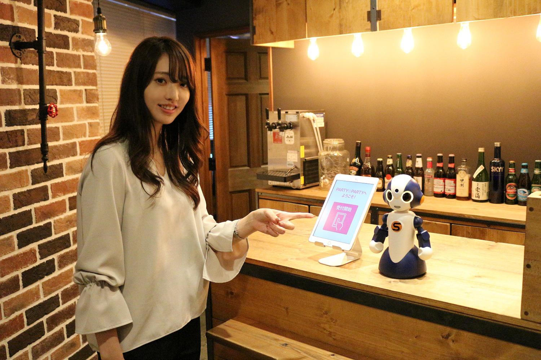▲PARTY☆PARTYアプリと連動し、受付業務を正確に行います。