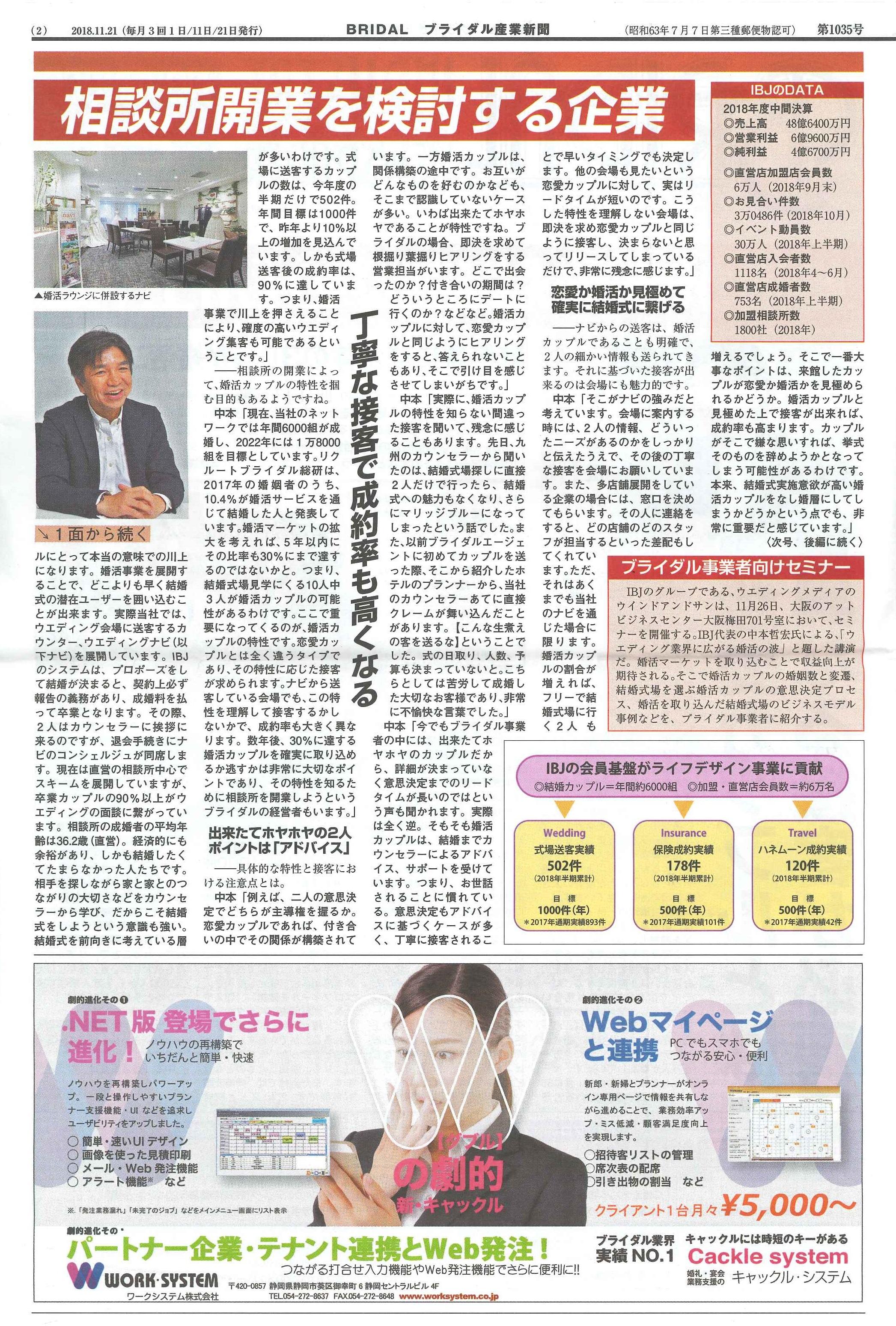 ブライダル産業新聞 IBJ 2